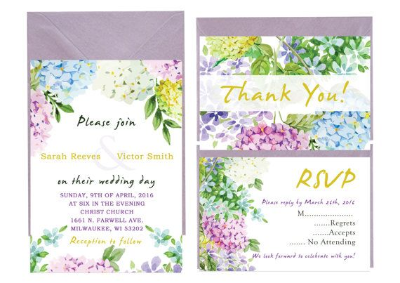 Floral Chic Wedding Invitation With Rsvp by LoveArtsStationery