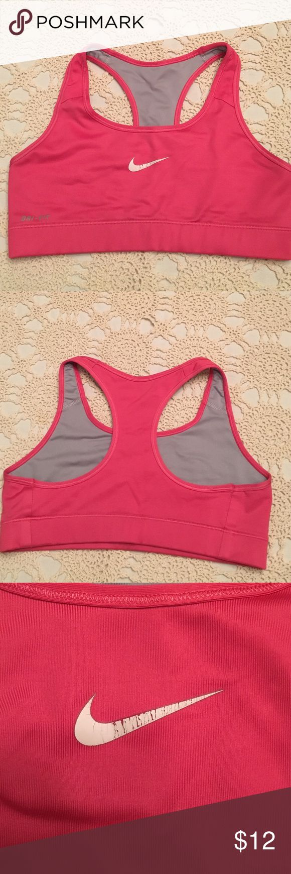 Pink Nike Dri-Fit bra In good condition, Nike bra. Size small. Pink. Nike Other