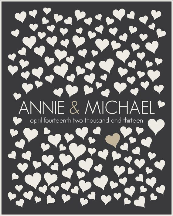 Wedding Guestbook Alternative Poster // Wedding by HARVEYGREY, $38.00