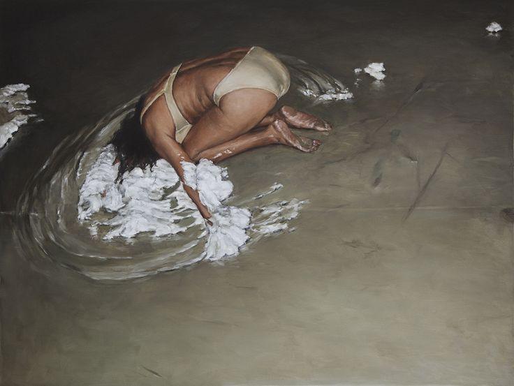 Damien Cadio - 2014 oil on canvas - 50 x 80 cm www.evahober.com