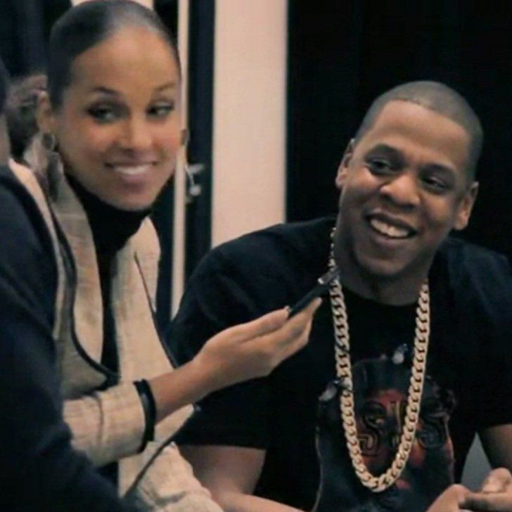 "Pin for Later: Proud Papa Jay Z Shows Off Blue Ivy to His Friends in the ""Glory"" Video"