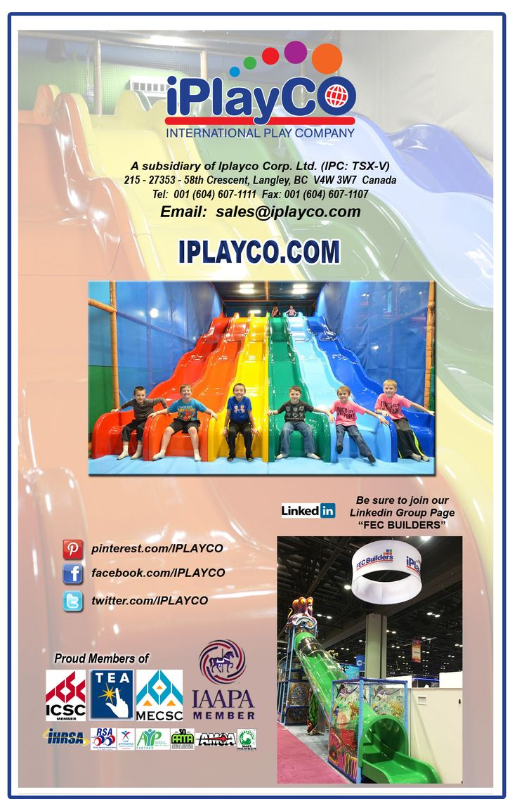 International Play Company (Iplayco) designs, manufactures and installs interactive play structures, custom theming, high quality 2-D and 3-D play events and unique interactive products for the entertainment, education and leisure industries.  Our R&D team will develop a concept that suits your needs and will meet any challenge, exceed expectations and deliver artistic excellence.  #Iplayco #weBUILDfun #weCREATEfun #ChildrenIndoorPlayEquipment