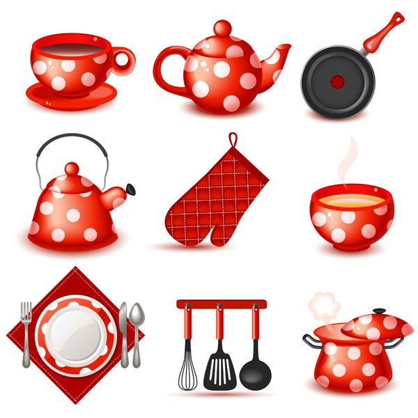 9 Cute Red Kitchen Icons Vector Set - http://www.welovesolo.com/9-cute-red-kitchen-icons-vector-set-2/