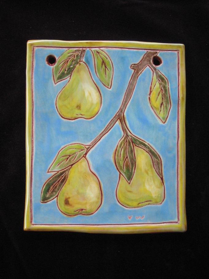 pear plaque
