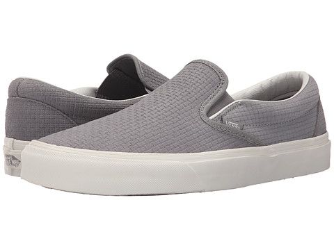 Vans Classic Slip-On™ (Braided Suede) Wild Dove - Zappos.com Free Shipping BOTH Ways