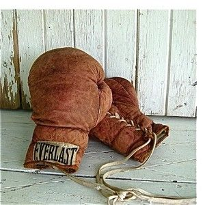 boxing gloves --he was a golden glove champ