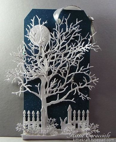 KC Impression Obsession Tree Frame 5 center - Is this not the most beautiful tag...EVER?! And, it's totally doable.