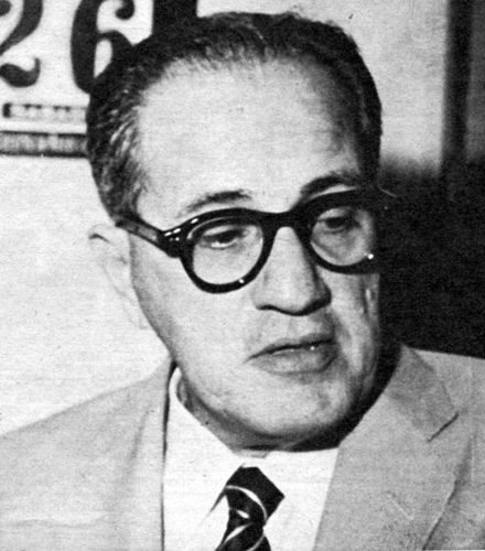 Dr. Pelayo Cuervo Navarro, leader of the Ortodoxo party, assasinated 13-Mar-1957. For information about Cuban History of this period please visit Cuba 1952-1959