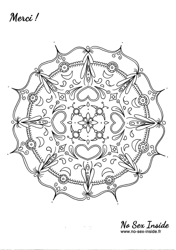 17 best images about coloriages mandalas on pinterest coloring mandala coloring and coloring - Colorier mandala ...
