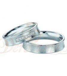 Βέρες γάμου από πλατίνα με διαμάντι Breuning 9078-9079