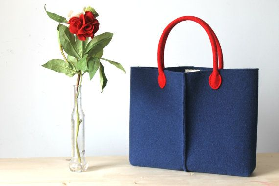 Elegant and Casual Felt Bag from Italy Tote Bag Market by Lefrac