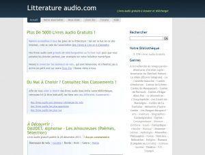 Visite instructive du site litteratureaudio.com qui proposent plus de 5000 titres audio, des classiques mais pas que. ça donne envie.