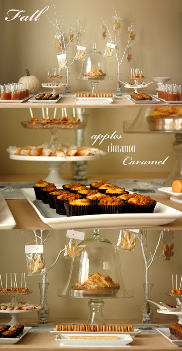 Beautiful autumn dessert table! Try a new seasonal idea for your next dinner party!: