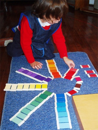 "Educating the senses - shades of colour... from Montessori World ("",)"