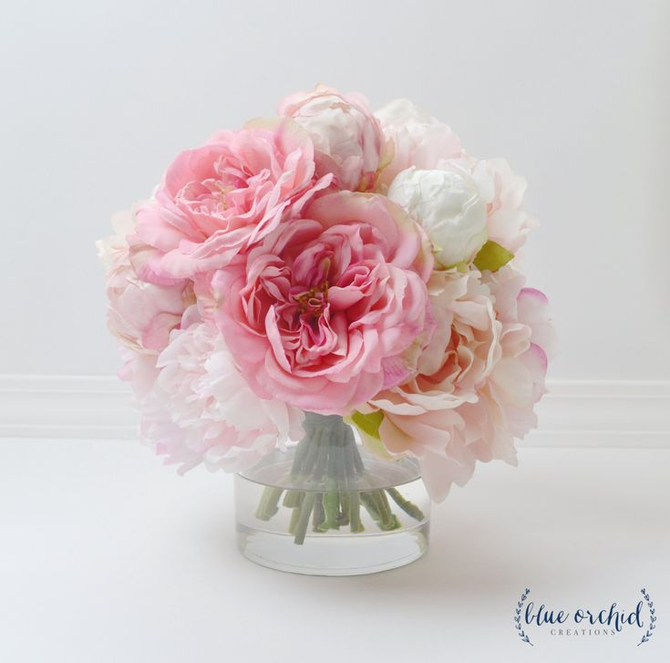peony arrangement silk peonies flower arrangement silk flower arrangement peony decor