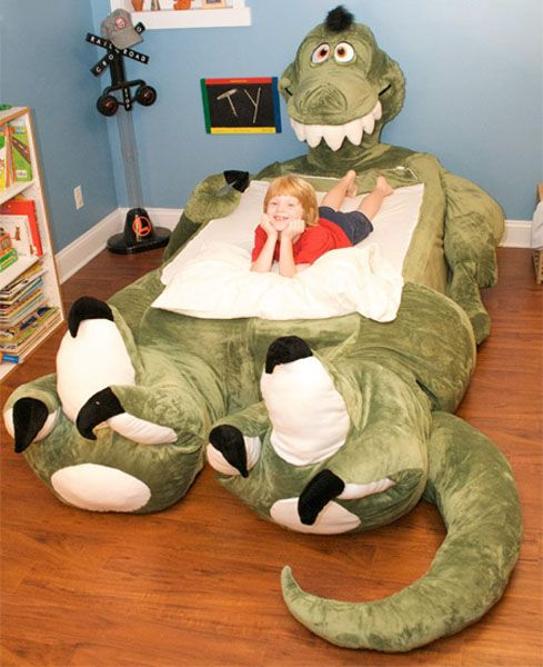 stuffed-animal-bed-for-kids-bedroom-furniture  Omg! This looks like the one from the movie Petes Dragon! The kid even has red hair lol