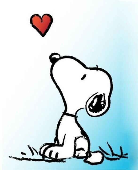 Heart clipart snoopy #3