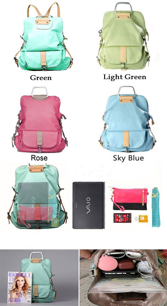 It is the unique magic backpack! Unique Fresh Multifunction Backpack & Handbag & Shoulder Bag #backpack #school #college #bag