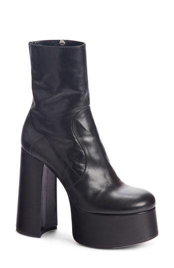eec7a5b2816 Great for Saint Laurent Billy Kangaroo Leather Platform Boot (Women ...
