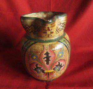 ancien-pichet-vase-brocca-vaso-Montopoli-Arno-emaille-fleurs-de-lys-chardons