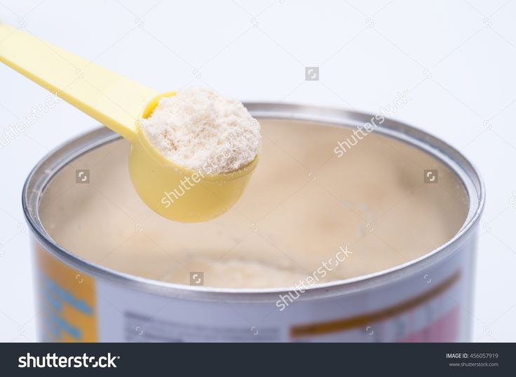 Baby Milk Powder In Cans That Open With A Spoon. Stock Photo 456057919 : Shutterstock