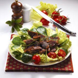 Salade de mâche aux gésiers confits