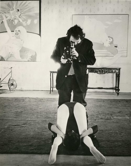 Stanley Kubrick filming A Clockwork Orange (1971)