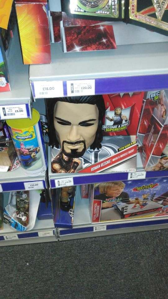 Shocked shopper claims WWE Roman Reigns wrestler masks stocked in The Entertainer look like Peter Sutcliffe