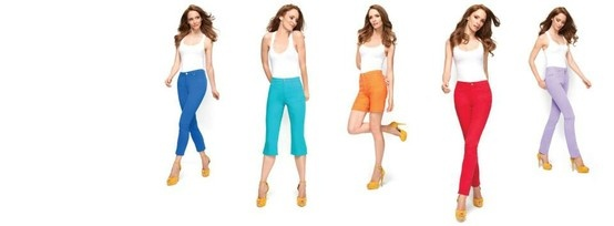 jeans in spring colors / French Dressing