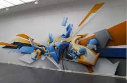 Graffiti (also spelled graffity) is graffiti on the wall using a composition of color, line, shape, and volume to write the word, symbol, or a...
