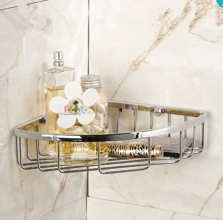 37.70$  Watch here - 2016  Bathroom Accessories,Wall Mounted Strong Brass Chrome Finish Shower Shelf &Shower Basket/Fashion Black Bathroom Shelf  #buyininternet