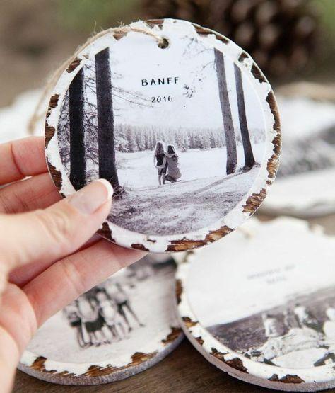 weihnachtlich dekorieren baumscheiben foto geschenkidee selber machen diy erinnerung
