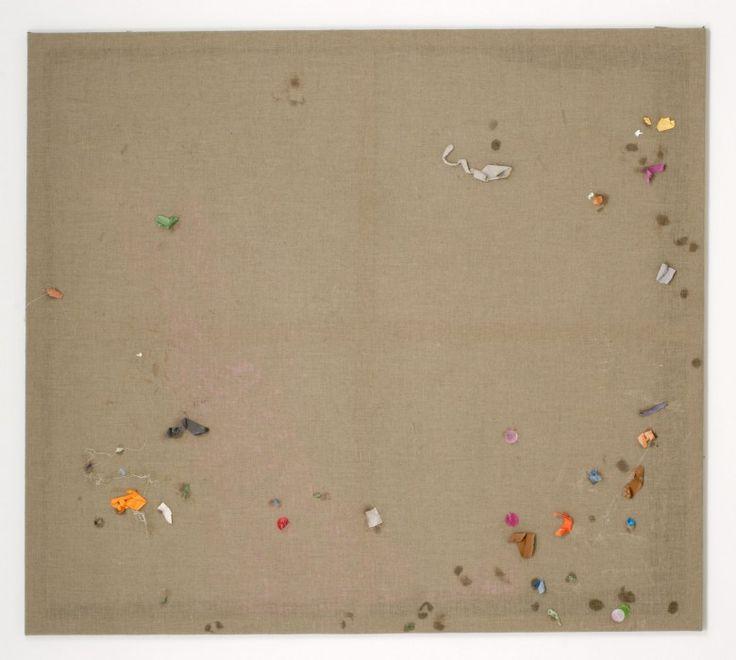Stefan Müller ohne Titel, 2005  Kunstharz, Papier auf Leinwand  160 x 180 cm  Photo: Simon Vogel