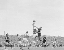 Historic Photos Perth: TWA-0039497 © WestPix GRAND FINAL 1964 ACTION - CLAREMONT VERSUS EAST FREMANTLE.  10 October 1964