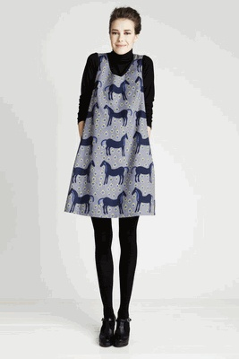marimekko dress- horses
