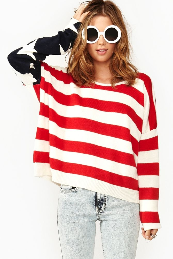 Patriotism is cool. Obama in the house! Lizabeth America Knit by NastyGal.com
