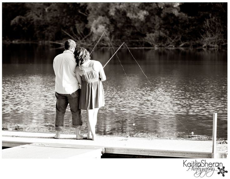 fishing engagement pictures Gone Fishin' www.kaitlinsheranphotography.com
