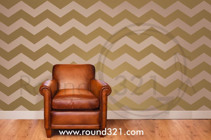 Chevron Print Decor Wall Decal Design For the Home or by Round321. , via Etsy.