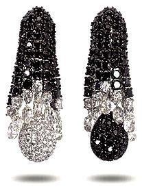 Rosamaria G Frangini | My Black Jewellery | Black and White Diamond ear pendants by Boucheron♥•♥•♥
