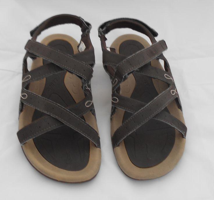 Hi-Tec Waimea Falls  Size 7 Womens Brown Trekking Sandals w. traction soles #HiTec #SportSandals #Casual