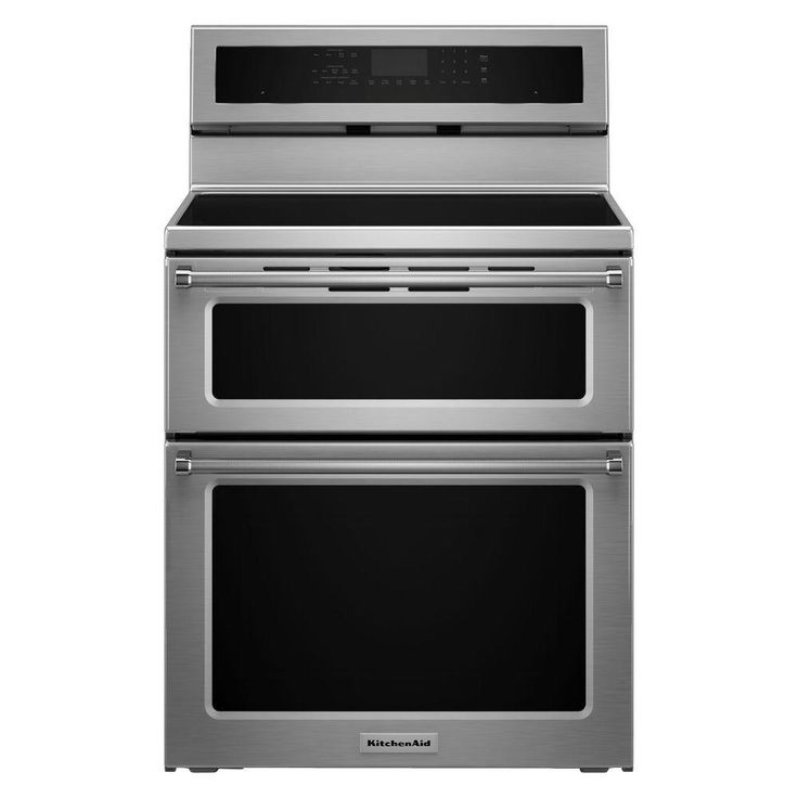 KitchenAid 30 in. 6.7 cu. ft. Double Oven Electric Induction Range with Self-Cleaning Convection Oven in Stainless Steel-KFID500ESS - The Home Depot