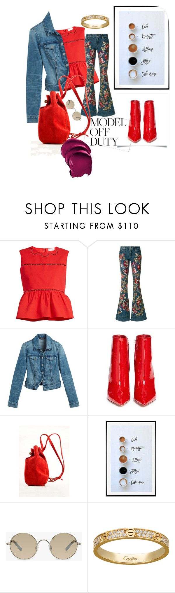 """""""Thankful"""" by dperfectwifey ❤ liked on Polyvore featuring RED Valentino, Alice + Olivia, White House Black Market, Gianvito Rossi, Meraki, Pottery Barn and Tura"""