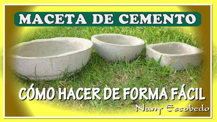 192 best images about cimento e gesso e fontes artificiais - Macetas de cemento ...