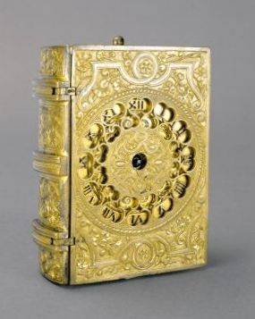 Travelling clock in the form of a book, 1576 (in the Museum of Applied Arts, Budapest, Hungary)