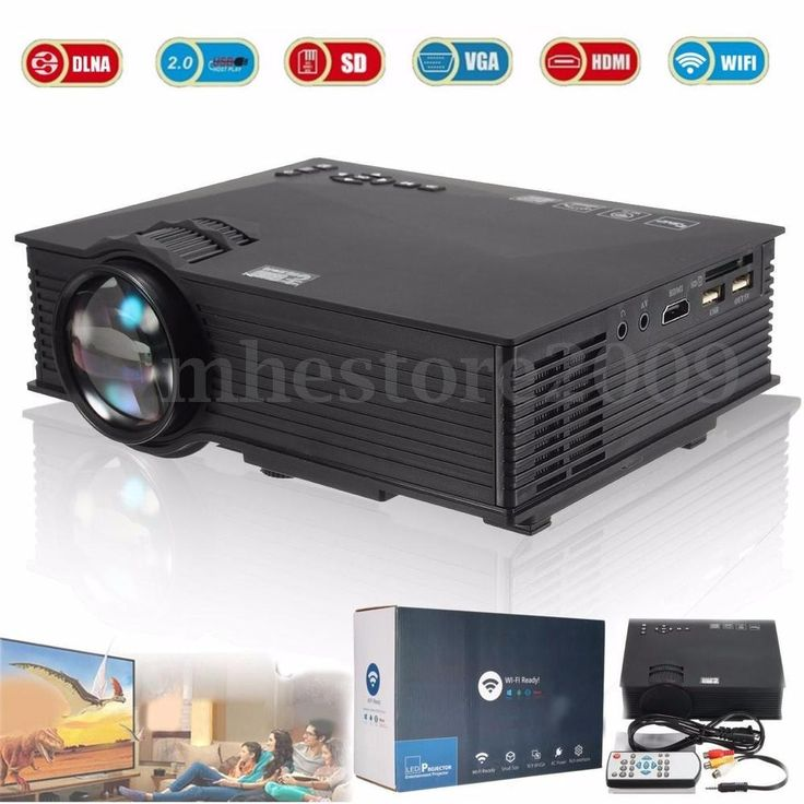WIFI Full HD 1080P HDMI Home Theater LCD Projector Cinema USB VGA AV Portable  #Unbranded