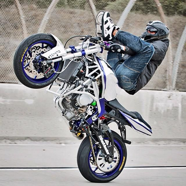636 White Stunt Bike