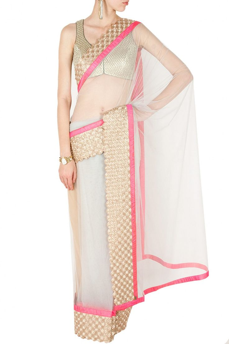 Grey and pink handwoven embroidered sari BY JADE. shop now at perniaspopupshop.com #perniaspopupshop #clothes #womensfashion #love #indiandesigner #jade #happyshopping #sexy #chic #fabulous #PerniasPopUpShop #ethnic #indian