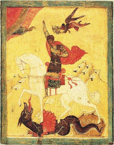Αγ.Γεωργιος Ο Μεγαλομαρτυρας & Τροπαιοφορος (275 - 303) __april 23             ( icons of novgorod and Pskov - Поиск в Google
