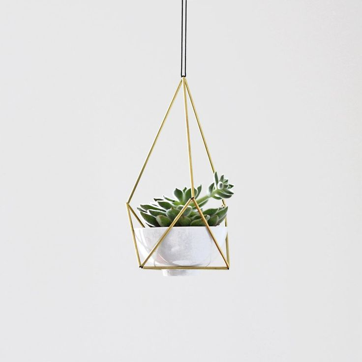 Hanging planters are having a resurgence in popularity, and with their space saving design they are a perfect fit for square-foot-deficient plant hoarders (ahem, me) and 70's aficionados alike. Here are a few great options to buy or DIY one for yourself.