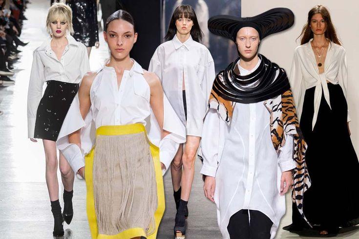 Anda pasti sudah tahu 'kan, kalau kemeja putih merupakan salah satu fashion item yang wajib dimiliki para fashionista karena begitu mudah untuk 'diracik' dengan busana lainnya? Agar tak kehabisan akal untuk mengolahnya, baca 'resep' dari panggung runway ini ya!  1. The Shoulders Show  Ekspresikan gaya berpakaian yang simpel namun tetap trendi melalui aplikasi cut out shirt yang dikombinasikan dengan rok selutut bercorak kontras. Look lini Palmer-Harding ini sangat sesuai untuk dikenakan…